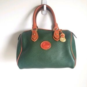 Dooney and Bourke R28 Satchel in Green Fir